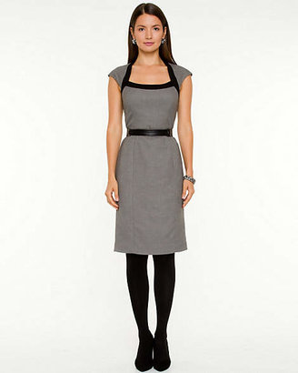 Le Château Tweed Scoop Neck Dress
