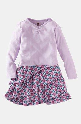 Tea Collection 'Graphic Vines' Ruffle Dress (Little Girls & Big Girls)