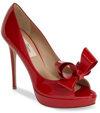 Valentino Couture Bow Platform Pump (Women)