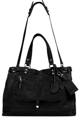 Vanessa Bruno Black Leather Tote with Shoulder Strap