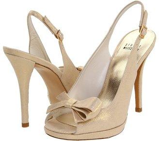 Stuart Weitzman Tarot (Oro Glazed Lame) - Footwear