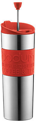 Bodum Stainless Steel 16 Oz. Travel French Press with Silicone Grip