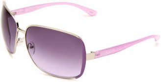 UNIONBAY Union Bay Women's U473 Combo Oversized Sunglasses,Silver Frame,Purple Gradient Lens,One Size