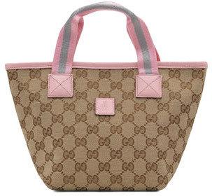 Gucci Girls GG Mini-Bag, Beige/Pink
