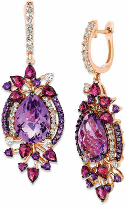 LeVian Le Vian Crazy Collection Multi-Stone Drop Earrings in 14k Strawberry Rose Gold (13-1/2 ct. t.w.)