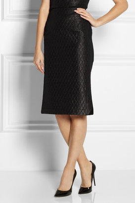 Roland Mouret Madura quilted sateen and crepe skirt