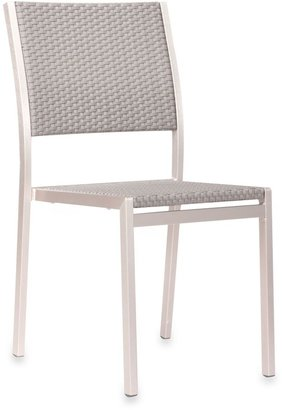 ZUO Outdoor Metropolitan Brushed Aluminum Dining Chairs (Set of 2)