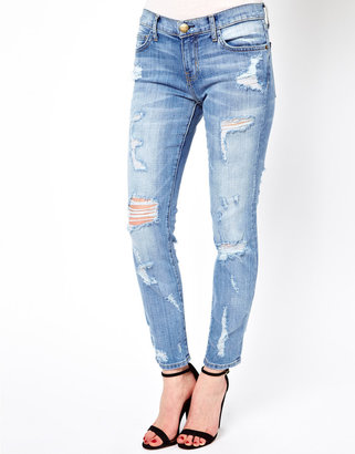 Current/Elliott Current/Elliot Distressed Stiletto Skinny Jeans