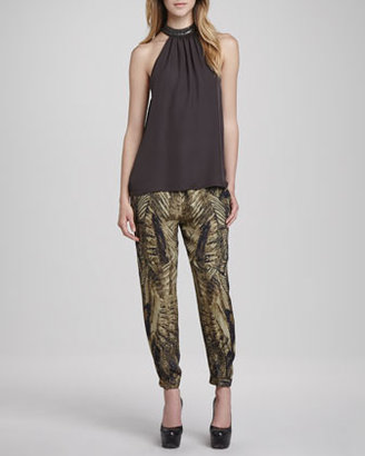 Haute Hippie Free Bird Silk Cargo Pants