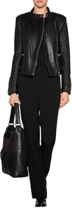 Barbara Bui Quilted Leather Biker Jacket