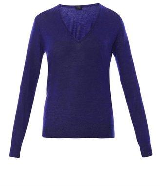 Joseph V-neck cashmere-knit sweater