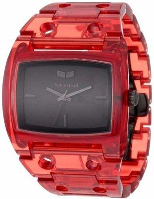 Vestal Women's DESP026 Destroyer Plastic Translucent Red Watch