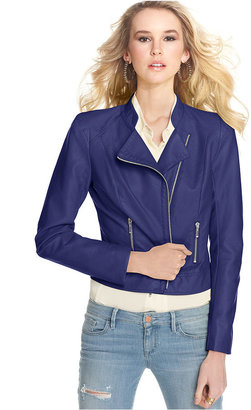 GUESS Jacket, Faux-Leather Motorcyle