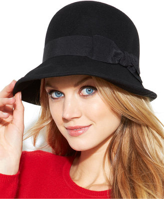 Nine West Felt Downtown Cloche with Bow Hat