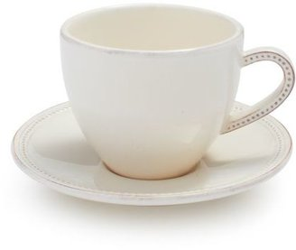 Sur La Table Pearl Cappuccino Cup and Saucer