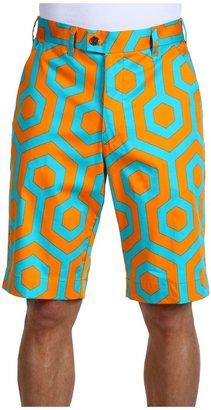 South Beach Loudmouth Golf Short (Orange/Teal) - Apparel