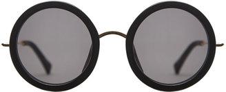 Linda Farrow The Row x Oversized Round Sunglasses