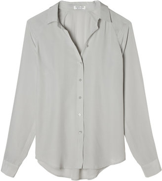 Everlane Silk Blouse - Point Collar