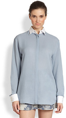 philosophy Contrast Detail Georgette Shirt