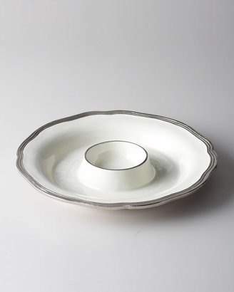 """Horchow """"Deville"""" Chip & Dip Tray"""