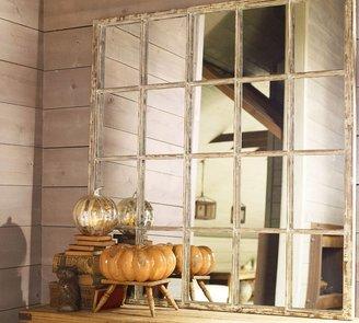 Pottery Barn White Paned Mirror