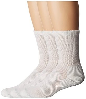 Thorlos Walking Crew 3-Pair Pack (White) Crew Cut Socks Shoes