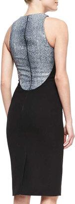 Cushnie et Ochs Stingray-Printed Leather & Crepe Dress