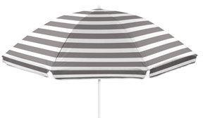 Vue 'Riviera' Beach Umbrella in Grey/White
