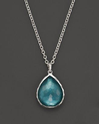 "Ippolita Sterling Silver Wonderland Mini Teardrop Pendant Necklace in Denim, 16"""