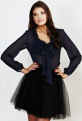 Lauren Conrad Paper Crown Emerald Skirt in Black