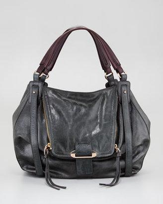 Kooba Jonnie Leather Satchel Bag, Forest
