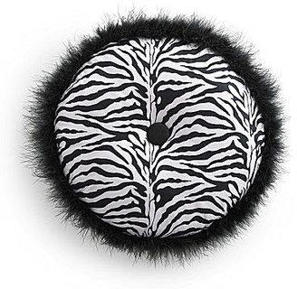 JCPenney Seventeen Ciera Zebra Round Decorative Pillow