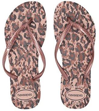 Havaianas Slim Animals Flip Flops (Ballet Rose) Women's Sandals