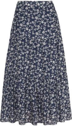 Gerard Darel Loriane - Printed Silk Skirt