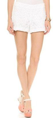 Alice + Olivia Crochet Lace Back Zip Shorts