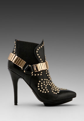 Jeffrey Campbell Volpe Bootie in Black/Gold