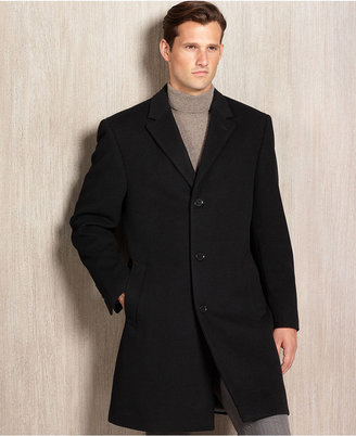 Calvin Klein Coat, Plaza Cashmere Blend Big and Tall Overcoat