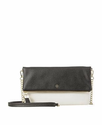 Ann Taylor Colorblocked Foldover Crossbody Bag