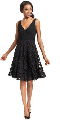 Isaac Mizrahi Dress, Sleeveless Surplice Lace