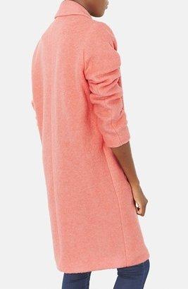 Topshop Wool Blend Boyfriend Coat