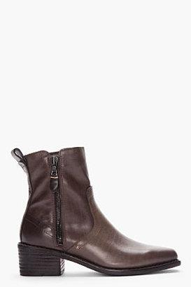 Rag and Bone RAG & BONE dark olive Pierce Ankle Boots