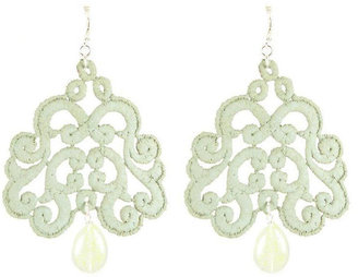 Tita' Bijoux Nuage sage lace earrings