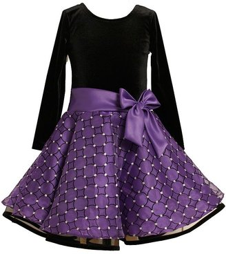Bonnie Jean flocked floral dress - girls 7-16