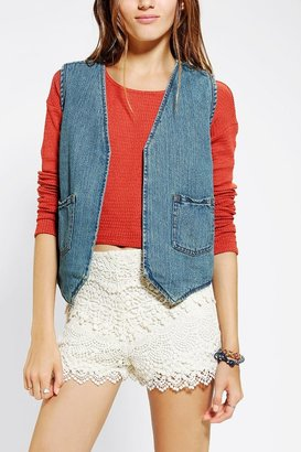 Urban Outfitters Ecote Reversible Denim Sherpa Vest