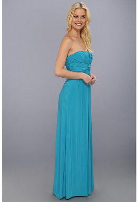 Jessica Simpson Twist Bust Maxi Gown