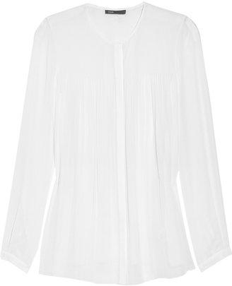 Vince Silk-blend chiffon blouse