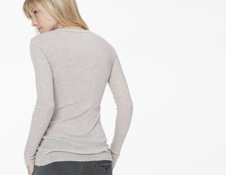 James Perse Cotton Cashmere Skinny Long Sleeve Crew