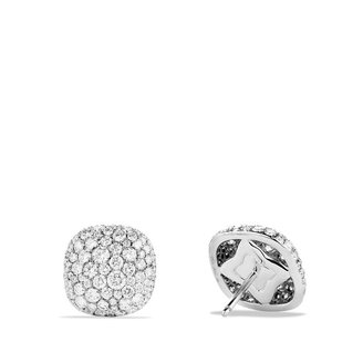 David Yurman Pavé; Earrings with Diamonds in White Gold
