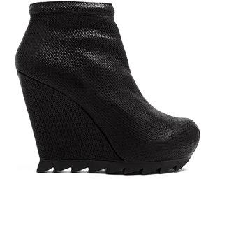 Camilla Skovgaard Textured Leather Wedge Ankle Boots