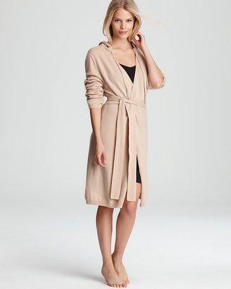 Arlotta Cashmere Short Wrap Robe with Hood